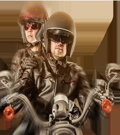 Rencontre un motard
