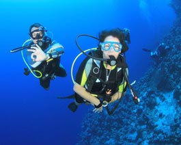 Scuba diving enthusiasts